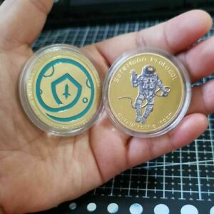 Gold Plated Safemoon Collectible Commemorative Metal Coin Digital Crypto Money