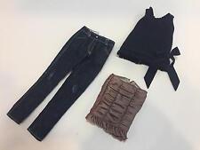 Ellowyne Wilde 3 separates: Distress Jeans, Frills Top, Skirt by Tonner