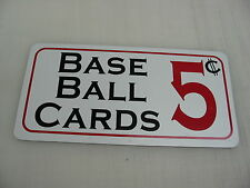 Baseball Cards 5 cents Metal Sign Tin Cool Retro Vintage Style