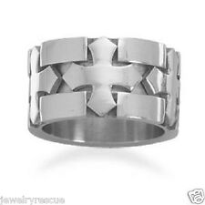 NEW Triple Cross Ring Stainless Steel Size 8 Men's Unisex Thumb Ring Great Gift