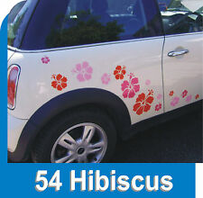 54 HIBISCUS FLOWER STICKERS CAR DECAL GRAPHICS WINDOW WALL BODY PANEL