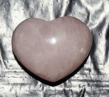 Rose Quartz Carved Pocket Heart Stone Healing Gift Pink