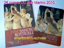 2010 2 euro SAN MARINO 500 morte BOTTICELLI Saint Marin Сан - Марино サン・マリノ 聖馬力諾
