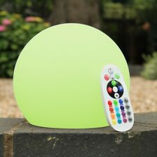 15cm Mood Ball Sphere Table Lamp with Remote - Rechargeable Globe Light