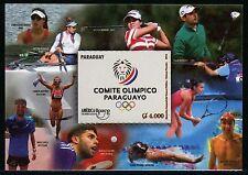 Paraguay 2016 UPAEP Olympiade Olympics Golf Tennis Tischtennis Rudern Block MNH