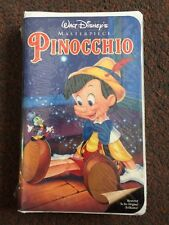 NEW WALT DISNEY'S MASTERPIECE, PINOCCHIO (VHS) IN CLAM SHELL CASE.