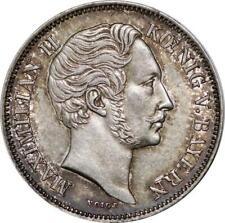 P5817 Germany Bayern 1/2 Gulden Maximilian II 1849 Silver UNC -> M Offer