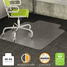 Deflecto DuraMat Moderate Use Chair Mat for Low Pile Carpet Beveled 45x53 w/Lip