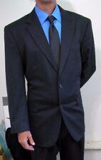 NEW Jos A Bank Modern 2btn Charcoal Gray CashWool Flannel Suit 44 R Reg