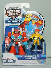 Pack 2 figurine Transformers Rescue Bots Heatwave fire & Burns Playskool Heroes