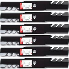 """6PK USA Toothed Mulching Mower Blades for 48"""" John Deere E160"""