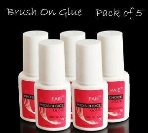 Extra Strong Nail Glue With Bush UV Gel Acrylic Nails Fake Nail Rhinestones Gems