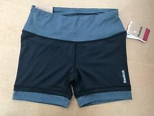 REEBOK FITTED COMPRESSION SPORT GYM SHORTS WOMENS HIGH INTENSITY WORKOUT SZ XS