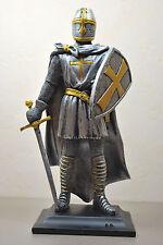 Ritter mit Schwert und Schild Kreuzritter Mittelalter Rüstung Figur