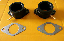 2 NEW YAMAHA XS400 77-82 INTAKE BOOTS CARB HOLDERS & GASKETS
