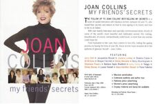 JOAN COLLINS - Promotional Publishers Booklet For MY FRIENDS' SECRETS 1999 C#75