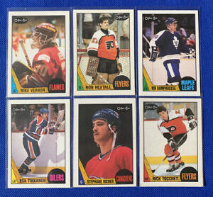 1987-88 OPC Rookie Hockey Lot HEXTALL-VERNON-DAMPHOUSSE-RICHER-TOCCHET-TIKKANEN
