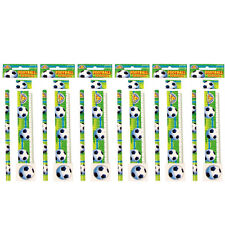 6 Football Stationery Sets - Party Bag Fillers Piñata Prizes Loot Bag Toy