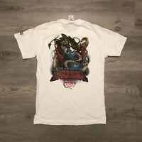 Vintage Hard Rock Cafe San Francisco SF T Shirt Dragon Playing Guitar Mens Small