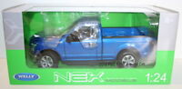 Welly NEX 1/24 Scale 24063W - 2015 Ford F-150 Regular Cab - Blue