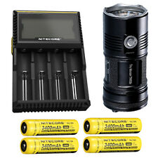 Nitecore TM06S Flashlight -4000 Lumens w/4x NL189 Batteries & D4 Charger