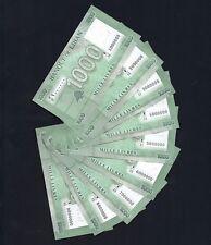 Nice millions full set 9 bills from 1 to 9 Lebanese 1000LL Lebanon Liban Libano