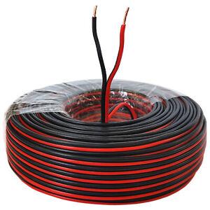 Lautsprecherkabel 50m Rot/Schwarz 1,5 mm² Kupfer Audiokabel Boxenkabel Litze