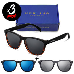 Tris occhiali da sole HERLING Pack SPECTRUM [Premium] uomo/donna sport fashion