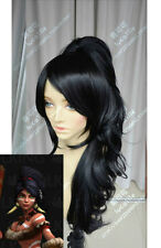 League of Legends LOL Nidalee Long Black Cosplay Party Hair Full Wig
