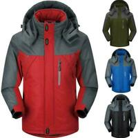 Men's Winter Warm Jacket Snow Hiking Thick Hooded Waterproof Outwear best C J3W1