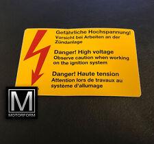 orig. Mercedes Aufkleber Gefährliche Hochspannung W107 W123 W124 W126 W201 W116