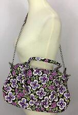 Vera Bradley Plum Petals Purple Floral Chain Purse Satchel Shoulder Bag