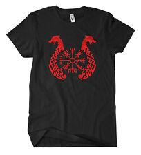 Viking Compass Dragon T-Shirt Odin Thor Germanen Runen Wikinger Wacken Heavy