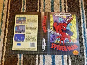 BOX ART ONLY Spider-man Spiderman Original Sega Genesis Case Sleeve OEM