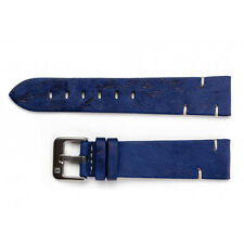 20mm ColaReb Matera Mens Blue Sheepskin Leather Made in Italy Watch Band Strap