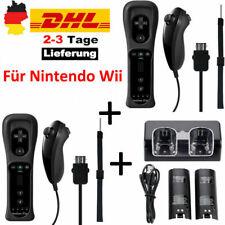 Für Nintendo Wii Original Controller Remote Plus+Nunchuck+2 Akku&Ladegerät Set D