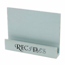 Blue Wooden Kitchen Recipe Book Stand Holder 88-5032