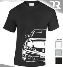 HONDA ACCORD TYPE S FACING CAR FAN ENTHUSIAST T SHIRT TURBO TEE SPORTS JDM TOP