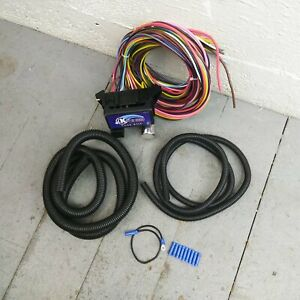12v 18 Circuit 12 Fuse Universal Wiring Harness Kit 1937 dodge valiant street