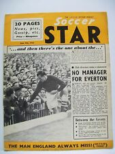 The National Soccer Weekly. Soccer Star Magazine. June 9th, 1956. Tommy Harmer.