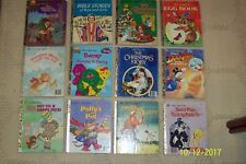 (LOT OF 12) AN ASSOTMENT OF LITTLE GOLDEN BOOKS PRE-OWNED.