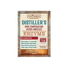 Still Spirits Home Brew Alcohol Making 25L Distillers Enzyme Alpha Amylase 12g