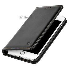 dd36f46ba39468 For iPhone 8 7 6 6S Plus Xs Max Xr X Leather Wallet Case Cover Black