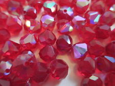 1 Gross VINTAGE West German Full Tin Cut Beads Ruby AB 8mm w/Org. Packs!! WOW!!
