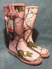 Women's sz 9 Sheila Rubber Mud Rain Boots - Pink Realtree AP Shooting Gardening