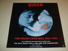 """QUEEN - Too Much Love Will Kill You UK 1995 Parlophone promo 12"""" x 12"""" flat"""