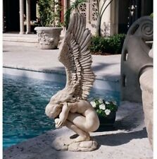 Large Angel Garden Statue Hand Painted Ornament Lawn Patio Sculpture Deck Decor