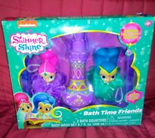 Shimmer & Shine BATH TIME FRIENDS Genie Bottle Body Wash 2 Squirters New in Box