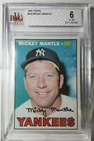 1967 Topps #150 Mickey Mantle BVG Graded 6 EX-MT