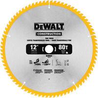 DEWALT Series 20 12 in. 80 Tooth Saw Blade (2pk) DW3128P5D80I New